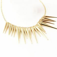 Fashion Spike Gift Gold Plated Accessories Jewelry Necklace Pendant Women's