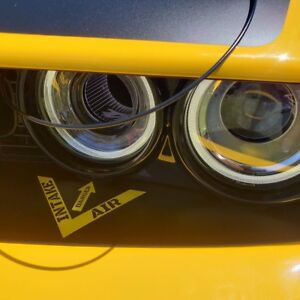 Hellcat And T/A Challenger headlamp Intake Decal In Custom Colors