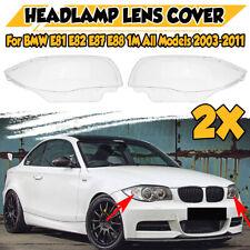 For BMW E81 E82 E87 E88 1-SERIES & 1M 2003-2011 Headlight Cover Headlamp Lens