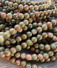 "15.5"" Strand Unakite Gemstone Rounds 6mm, Approx 62 Beads"