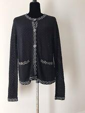 MISSONI FOR TARGET Ladies Cardigan Sweater Crochet Design Size L EUC