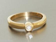Ring Gold 585 - SOLITÄR RING in 14 kt Gold (585) mit 1 Brillant