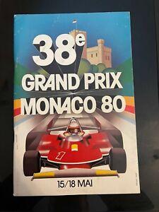 1980 Monaco Grand Prix Formula 1 Program