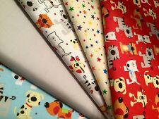 5 x paquetes de Fat Quarters Tela Craft empavesado Patchwork Costura Perros Gatos Estrellas
