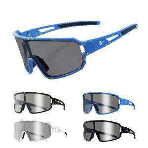 Polarized Cycling Sunglasses Photochromic Lens Windproof Bike Glasses MTB Sports
