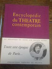 Encyclopédie du théatre contemporain volume 1 : 1850-1914 Gilles Quéant dédicacé