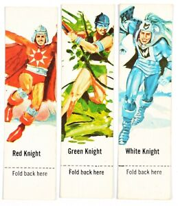 Nestle White Knight Chocolate Bar 1980s, Battle Game Cards x5