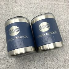 "YETI Rambler 10 oz Lowball Stainless Steel Navy - Custom ""Konica Minolta"" 2 Pack"