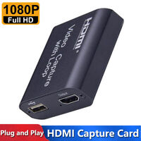 4K HDMI to USB 2.0 HD 1080P Video Capture Card Recorder for Game Live Streaming