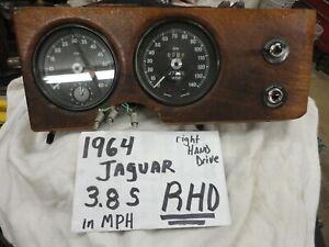 1961 1962 1963 1964 Jaguar 3.8 S RHD DASH MPH SPEEDOMETER TACHOMETER OE NICE
