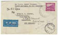 """1938 PAA """"SAMOA CLIPPER"""" FIRST AIRMAIL TO NEW ZEALAND PROPOSED SERVICE COVER."""