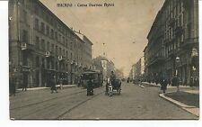 1912 Milano Corso Buenos Ayres tram carrozza Guller dest. Lucca FP B/N VG ANIM