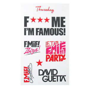 David Guetta F Me I'm Famous Sticker Set Pacha Ibiza Club FMIF Logo Paper 2014
