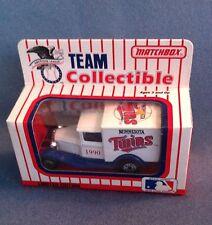 MINNESOTA TWINS New in Box 1990 Limited Edition Matchbox Truck