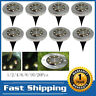 1-20 Pcs Solar Power Buried Light 8LED Under Ground Outdoor Waterproof Pathway