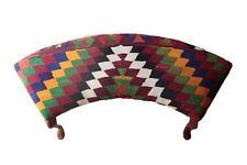 Vintage Kilim cover Ottoman,Unique Kilim Upholstered Furnitures,Furnitures Kilim
