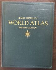 Vintage 1946 Rand Mcnally World Atlas Premier Edition