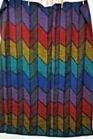 Vtg Biederlack Kaleidoscope Reversible Acrylic Throw Blanket 55 x 71 Rainbow