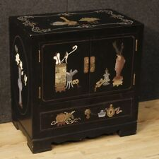 Bedside table lacquered chinoiserie night stand antique style French furniture