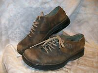 *USED* *WORN* MERRELL LACE UP CASUAL OXFORDS SHOES BROWN LEATHER