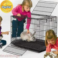 Animal Wire Home Cage for Rabbit Bunny Habitat Travelling Outdoor Indoor Lodge