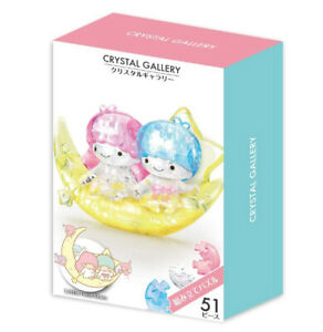 Hanayama Crystal Gallery 3D Puzzle Sanrio Little Twin Stars Moon 51 pieces F/S