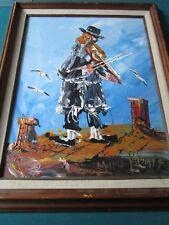 """MORRIS KATZ OIL ON BOARD ORIGINAL PAINTING '""""VIOLINIST"""" 1997"""
