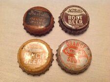 4 Different Vintage Cork Lined Nesbitt's Sodas Bottle Caps