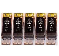 5x schwarz Patronen für CANON PIXMA iP3600 iP4600 MP540 MP550 MP580 mit Chip