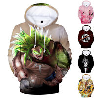 DRAGON BALL Pullover Hoodie Cotton Sweatshirt Comic Anime Sweather 3D Print