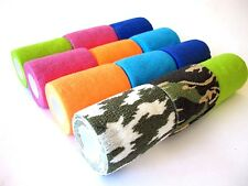"self-adhesive cohesive bandage..athletic sport..vet wrap..12 rolls..3"" x 5 yard"