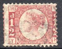 1878 Sg 48 ½d Rose-red 'TH' Plate 19 Used with Duplex Cancellation