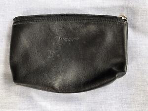 Penhaligon's Soft Black Leather Zip Top Make Up Bag