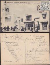 Belgique 1910 Timbre CARITAS sur Cp EXPOSITION UNIVERSELLE BRUXELLES.......X1590
