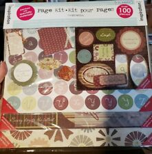 """Colorbok Blueberry Inspiration 12""""x12"""" Scrapbook Page Kit Paper Stickers Diecuts"""
