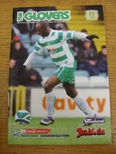 27/01/2009 Yeovil Town v Huddersfield Town  (Item In Good Condition)