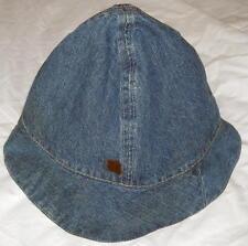 9 Cute Reversible Denim & Tan 100% Cotton Hat Free Shipping