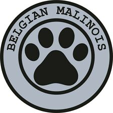 1x BELGIAN MALINOIS PAW PRINT SEAL TRACK FUNNY STICKER DOG PET DECAL VINYL