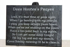 "Deer Hunter's Prayer 5""x7"" black marble plaque"