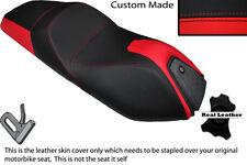 BLACK & RED CUSTOM FITS ITALJET JUPITER 250 DUAL LEATHER SEAT COVER
