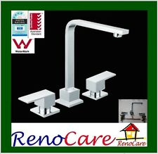 DELUXE 1/4 Turn Elegant Square Basin / SPA / BATH / HOB Tap Set  RC-6114H