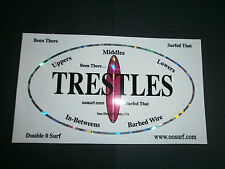 "Trestles Surf Surfing Surfboard Fin Beach Sticker ""Been There.""Surfed That"""