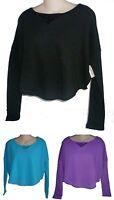 Womens AEROPOSTALE  Long Sleeve Cropped Tonal Foil Dolman Top Shirt NWT #9380