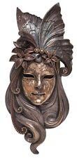 Veronese Bronze  Venetian Wall Plaque Mask Statue Gift Home Decor Collectables
