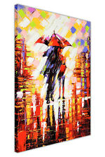 WINTER NIGHTS UMBRELLAS CANVAS WALL ART PRINTS HOME DECORATION PICTURES PHOTOS