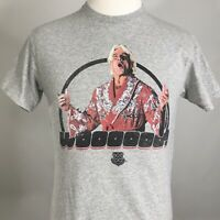 WWE Ric Flair WOOOOOO! Wrestling MENS GRAY SHORT SLEEVE GRAPHIC T SHIRT SIZE M