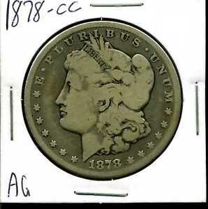 1878-CC $1 Morgan Silver Dollar in AG Condition #04849