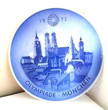 Vintage Royal Copenhagen Denmark Hd 1972 Olympiade-Munchen Summer Games Plate