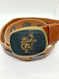 Red Monkey Leather Belt Brown