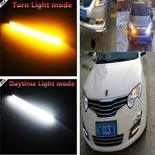 2x 30LED Ultra Slim Switch back White/Amber Lights Daytime Running Fog Lamps DRL
